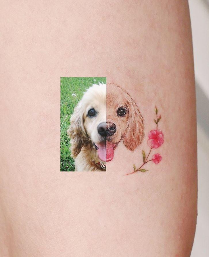 Happy Dog Tattoo
