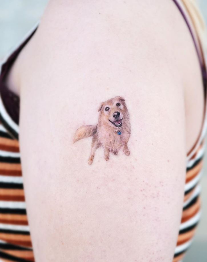 Lovely Dog Tattoo