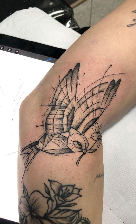 Drawing Bird Tattoo