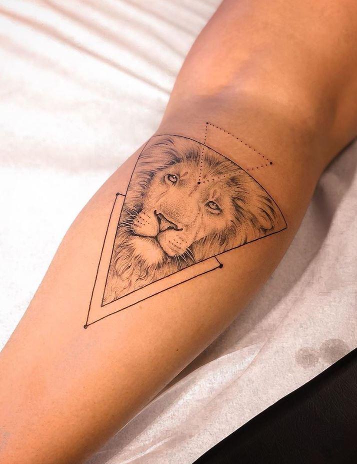 Lion Triangle Tattoo