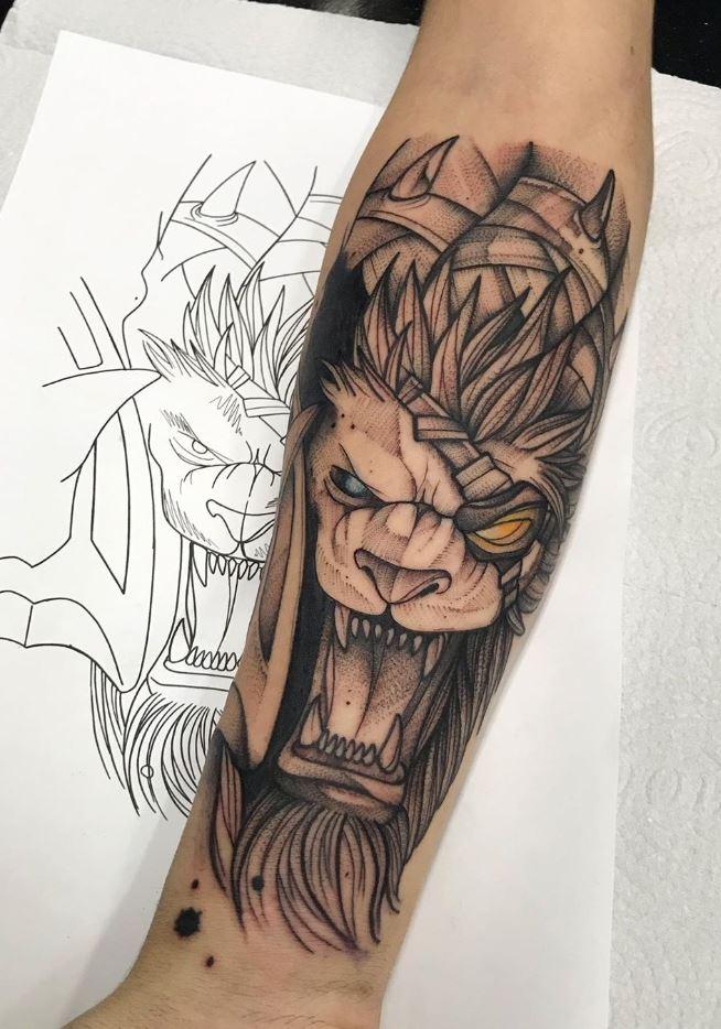 Monster Lion Tattoo