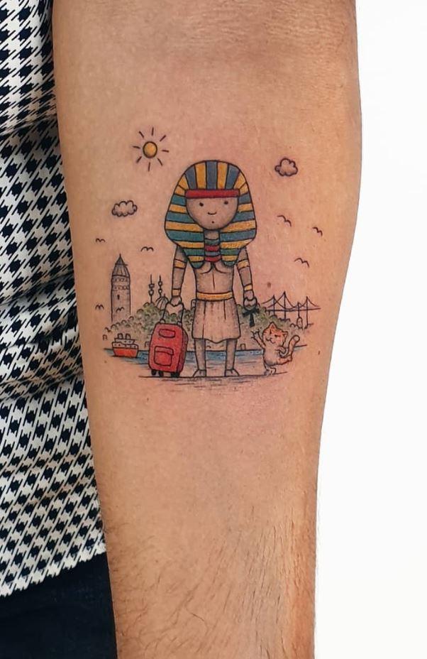 Small Tourist Tattoo