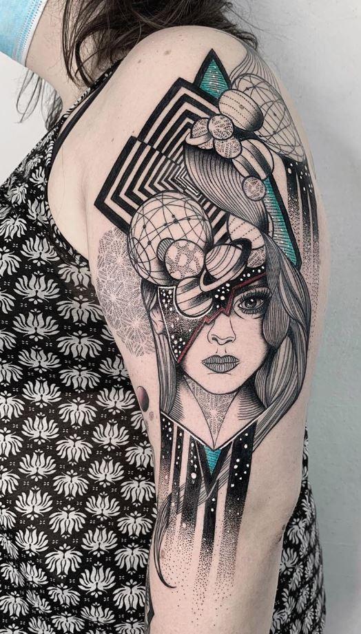 Galaxy Girl Tattoo