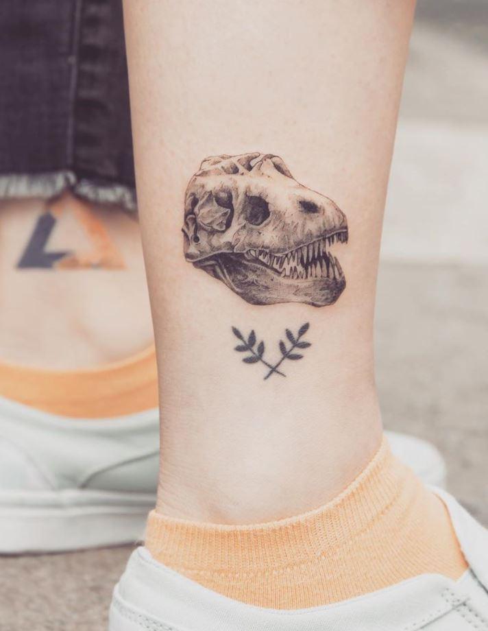 T-Rex Skull Tattoo
