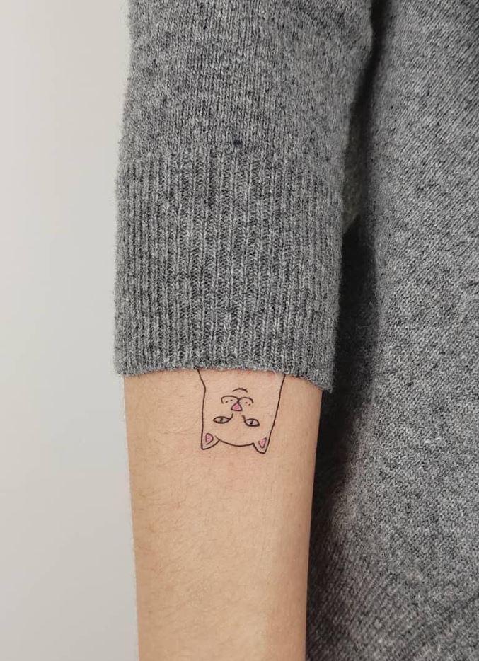 Spying Cat Tattoo