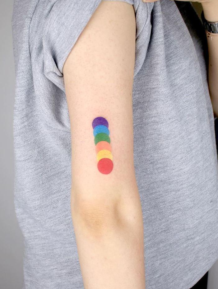 Colorful Circles Tattoo