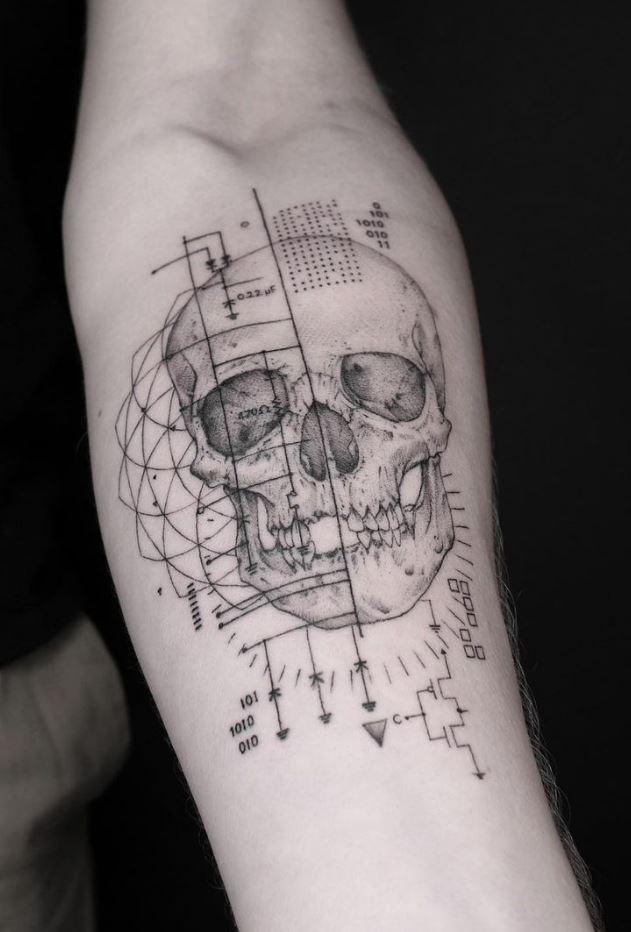 Legendary Skull Tattoo
