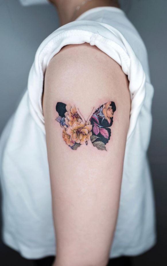 Stunning Butterfly Tattoo